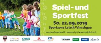 Großes Spiel- und Sportfest in Latsch